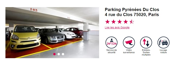 location de parking paris 20