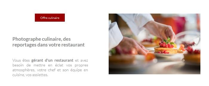 photographe culinaire professionnel